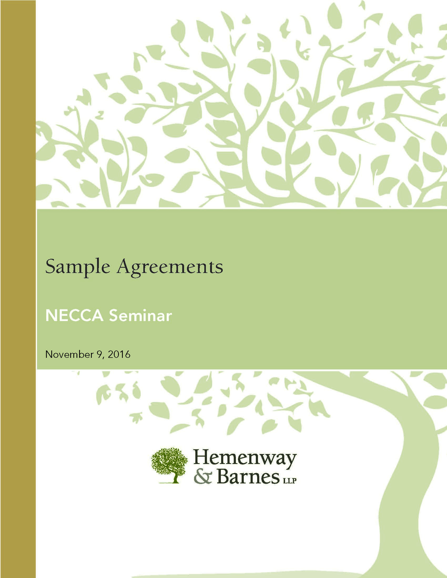 [PDF] NECCA seminar handout: sample agreements