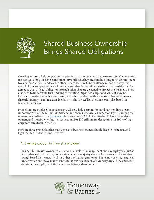 [PDF] Shared Business Ownership Brings Shared Obligations